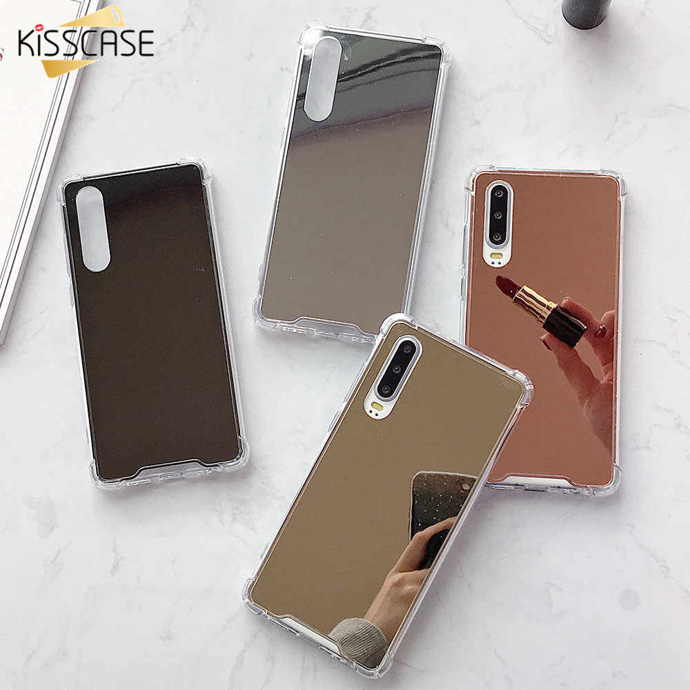 KISSCASE Mirror Case For Huawei P20 P30 P10 Lite Hard Anti-knock Case Cover For Huawei Mate 10 20 30 Pro Lite P Smart 2019 coque