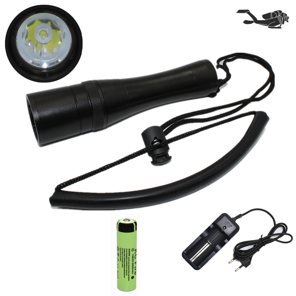 Scuba Diving Flashlight 18650 Dive Light Torch Underwater Powerful Cree XM-L2 LED Flashlight Waterproof Diving Lamp 100m underwater diving flashlight led scuba flashlights light torch diver cree xm l2 use 18650 or 26650 rechargeable batteries