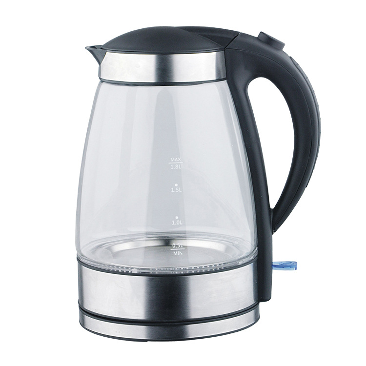 CX02-1, free shipping,Blue Led Glass Electric Kettle,Automatic Electric High Borosilicate Glass Kettle Kitchen Appliances