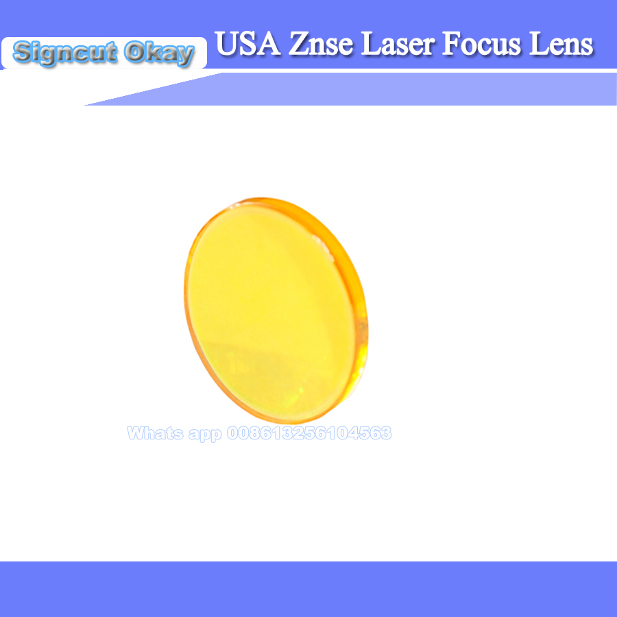 High Quality USA Imported Laser Cutting Machine Used ZnSe Laser Focusing Lens Free Shipping