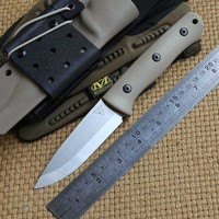 District 9 Original Survivor D2 fixed blade straight hunting knife KYDEX Sheath G10 handle camping outdoor EDC knives tools