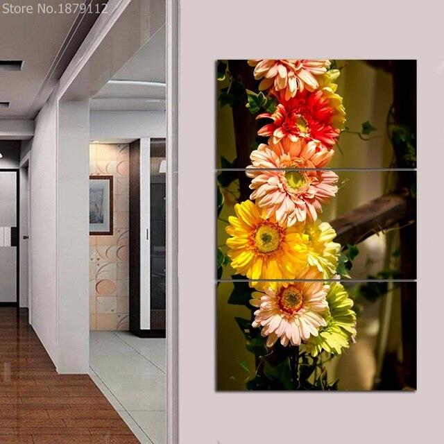 Hot Anjers Kleurrijke Bloem Spuiten Canvas Poster Wall Art Unframed ...