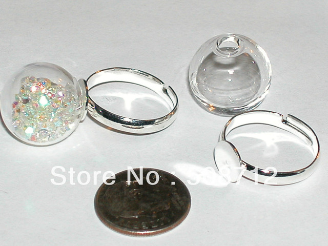 Free shipping20sets 16mm glass globe findings supplies ring free shipping20sets 16mm glass globe findings supplies ring pendant locket bottle aloadofball Choice Image