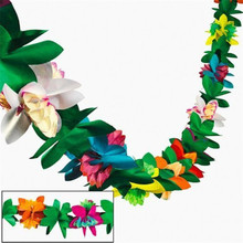 Hawaiian party new three-dimensional paper pull flower 3m colorful festival DIY decoration