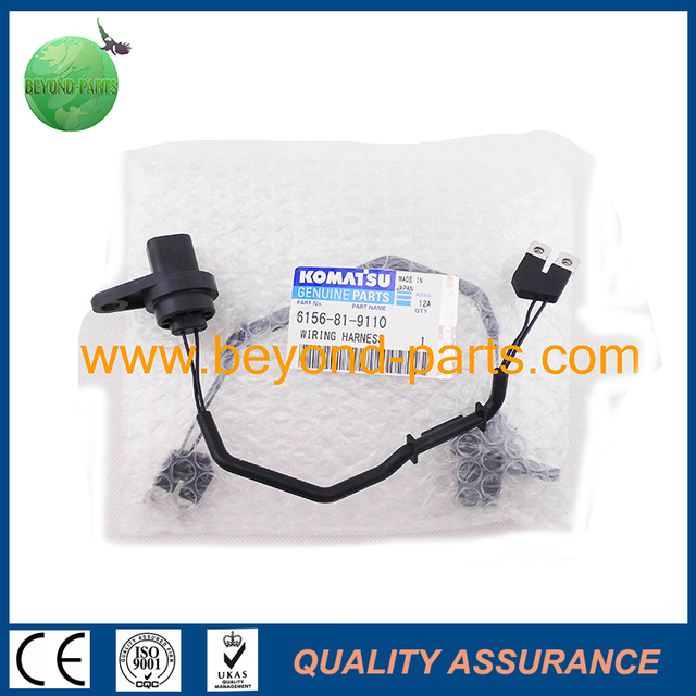 PC400 8 excavator fuel injector wire harness 6156 81 9110_640x640 aliexpress com buy pc400 8 excavator fuel injector wire harness Wire Harness Assembly at crackthecode.co