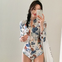 Rhyme Lady New Style Womens Rash Guard Long Sleeve Two Pieces Swimwear Sun Protection Summer Beachwear