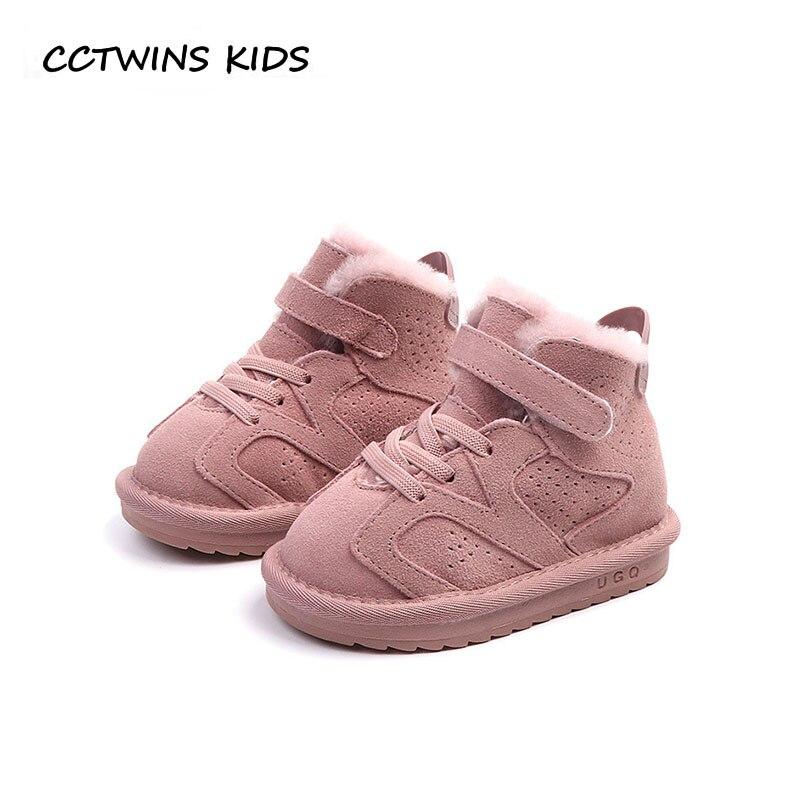 82dccb96e51 Купить CCTWINS дети 2018 зимняя детская обувь из натуральной кожи для  маленьких мальчиков брендовые зимние сапоги модные ботильоны теплые CS1562  Продажа ...