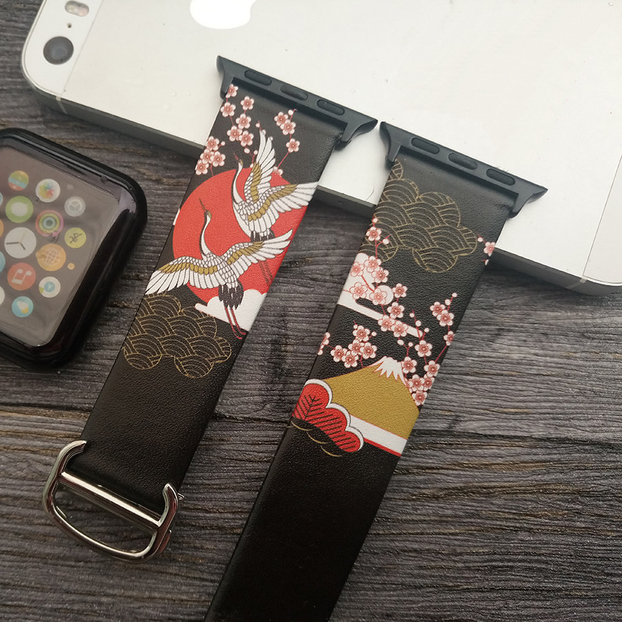 For Apple Watch Genuine Leather Painting Style Watch Band Watch Strap Watchbands For Apple Watch Series 1 2 3 iWatch 38mm 42mm watch guess watch page 2