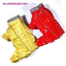 Славный KEK Одежда для собак для маленьких собак зимняя теплая пышная водостойкая куртка для домашних животных Комбинезон Светоотражающий Pet зимние комбинезоны мальчик девочка собака