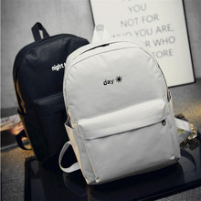 Drop shopping Canvas Backpack Women Men Large Capacity Laptop Backpack Student School Bag for Teenagers Travel Backpacks Mochila недорого