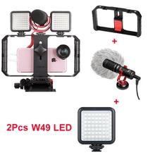 Профессиональный компактный видео микрофон на камеру Youtube Vlogging Запись микрофон для IPhone Nikon Canon DSLR камеры видеокамеры набор