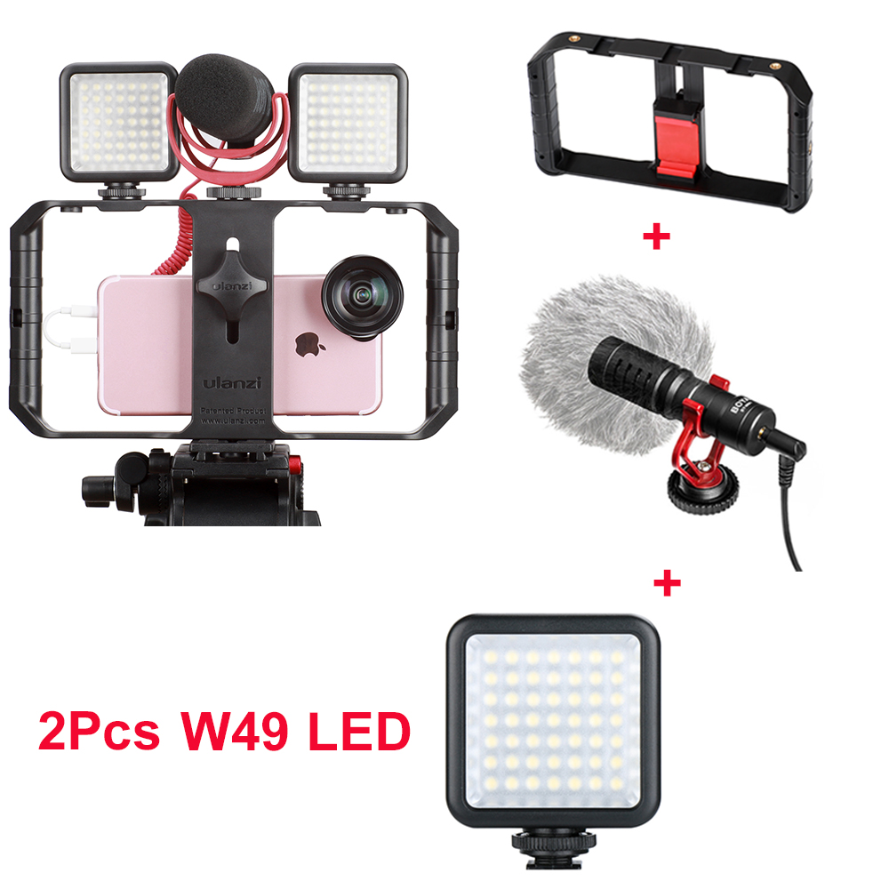 Professional Compact On Camera Video Microphone Youtube Vlogging Recording Mic For IPhone Nikon Canon DSLR Camera Camcorder Set