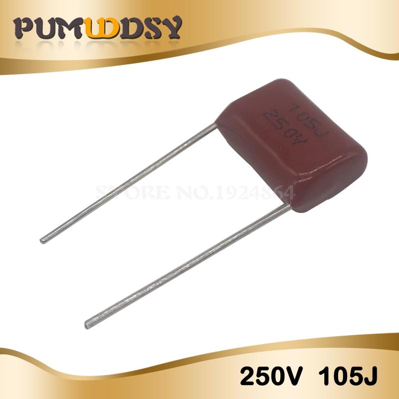 10PCS 250V105J Pitch 15MM 250V 105 1uf CBB Polypropylene Film Capacitor