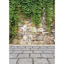 Photographic Backdrop Green Leaves Stone Floor Vinyl Cloth Photo Background for Photo Studio Fundo Fotografia Photophone Camear