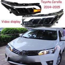 Affichage vidéo voiture style pour Corolla phare altis 2014 2015 LED DRL hid ampoule Bi xénon lentille hi lo faisceau feu de brouillard