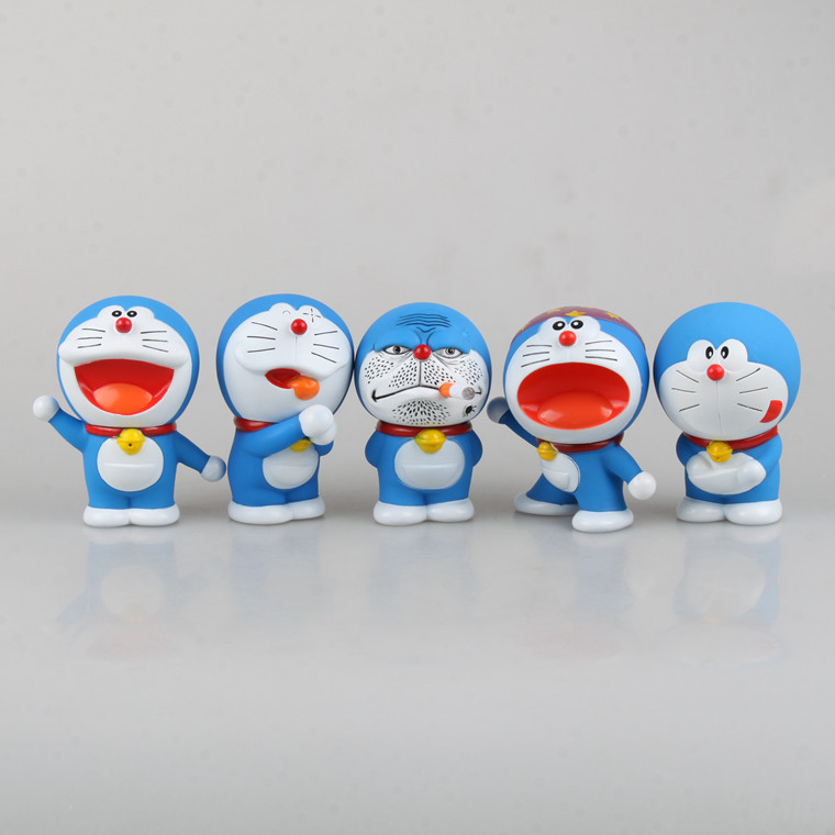 10cm 5pcs/set Doraemon Anime Action Figure Collection toys for christmas gift Free shipping AnnO0014DOM
