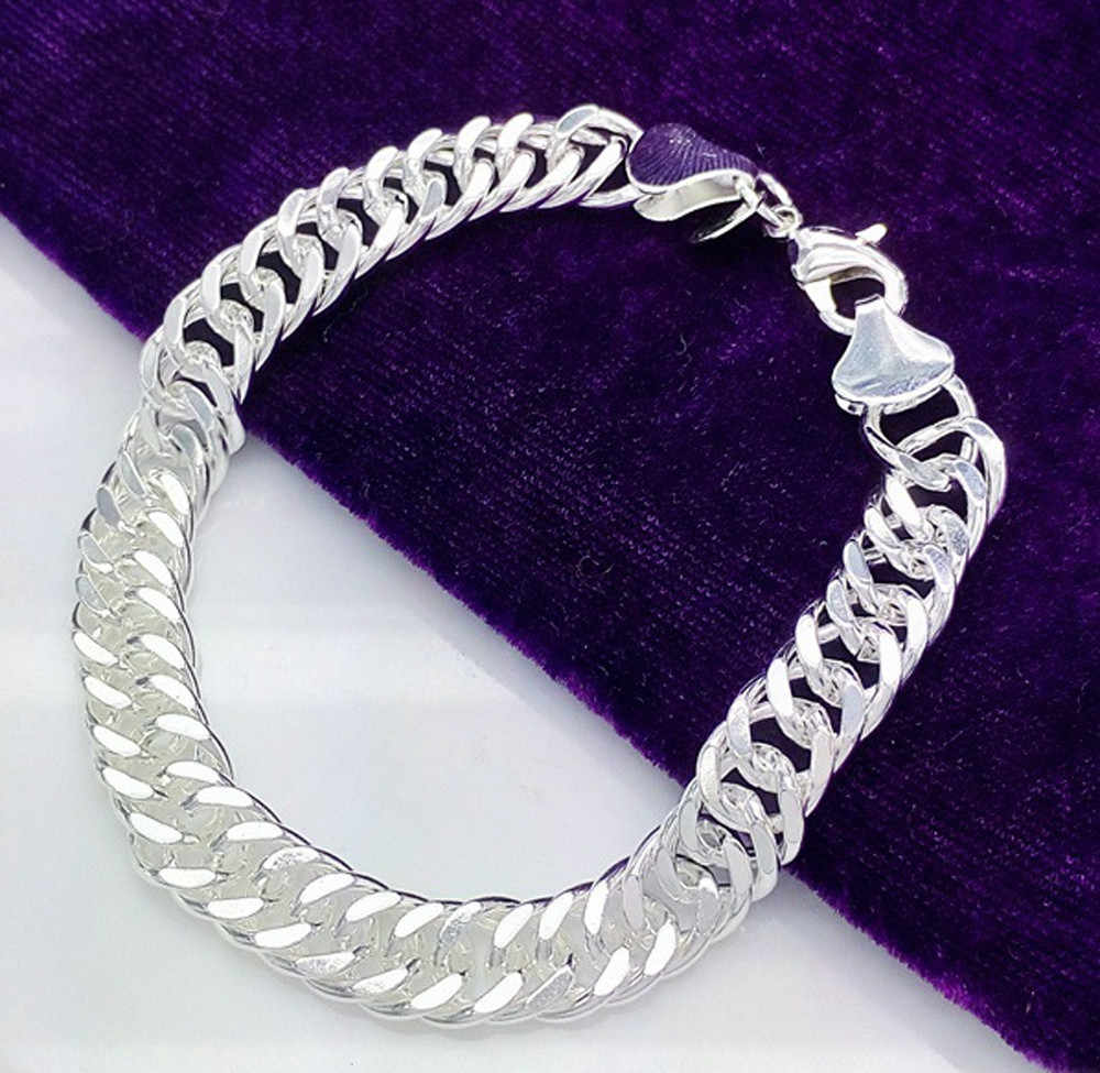 08bcab7cfda5b3 Detail Feedback Questions about Free Shipping 925 Stamped Silver bracelet  men and women universal hot gift bracelet on Aliexpress.com | alibaba group