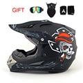 NUEVO! Profesional de peso Ligero Rockstar moto off road casco aprobado por el DOT casco de la motocicleta bici de la suciedad cabezal de engranajes