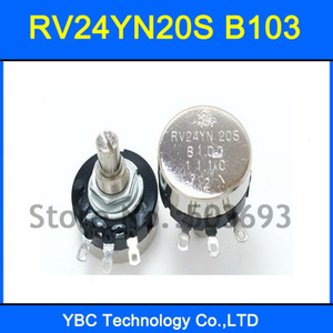 5pcs/lot RV24YN20S B103 10K RV24YN Potentiometer(China)