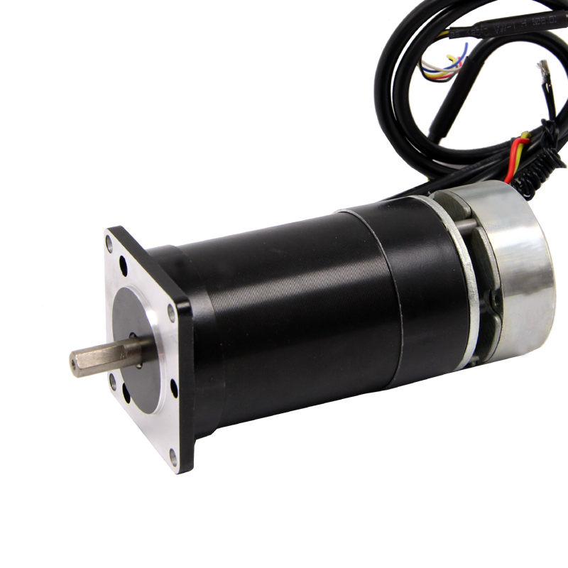 Nema23 <font><b>DC</b></font> Brushless <font><b>Motor</b></font> with Brake 24V 150W Low Speed <font><b>3000</b></font> <font><b>rpm</b></font> High Torque image