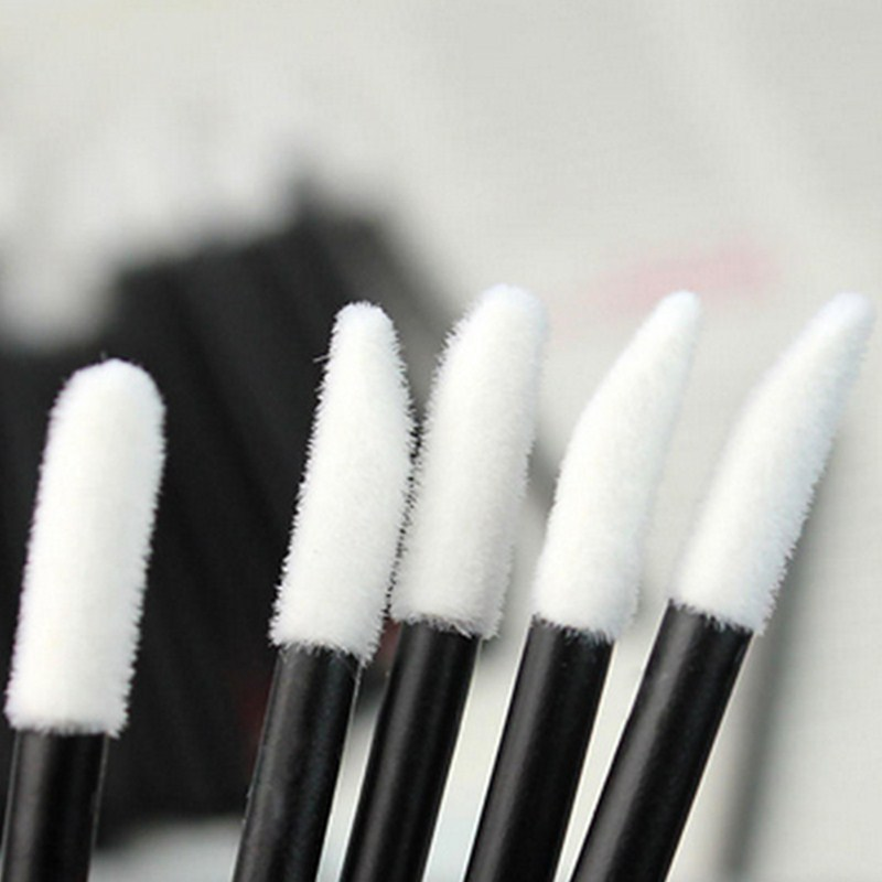 50 Pcs Disposable Lip Brush Eyelash Makeups Brushes Lash Extension Mascara Applicator Lipstick Wands Set Cosmetic Makeup Tools 2