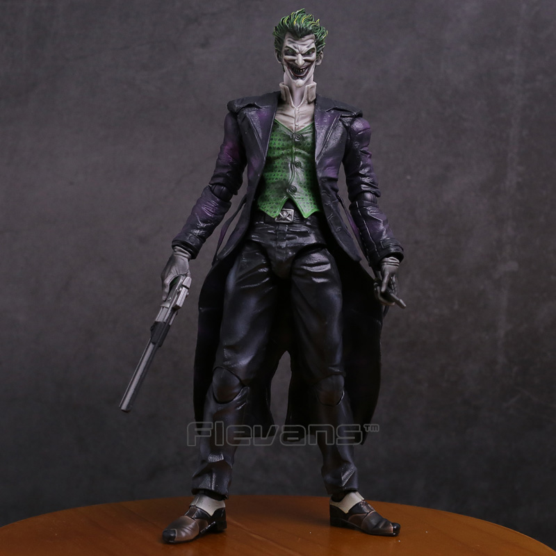 Play Arts KAI Batman Arkham Origins NO.4 The Joker PVC Action Figure Collectible Toy 26cm one head rotary belgian waffle maker machine for commercial restaurant machinery wholesale