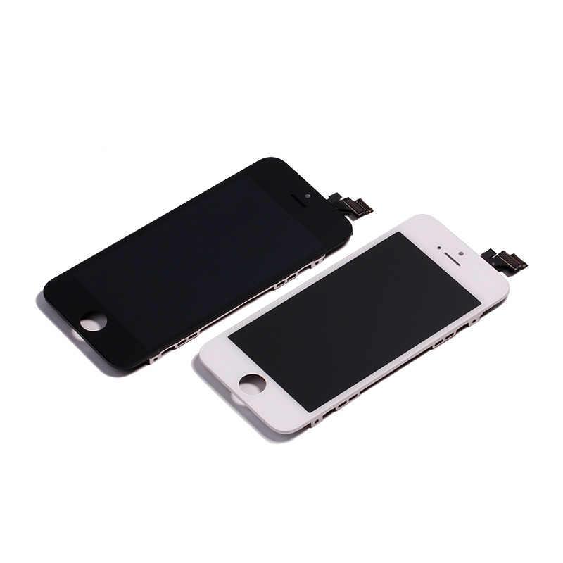 AAA جودة OEM شاشة الكريستال السائل ل iphone 7 6 شاشة محول رقمي يعمل باللمس ل apple iphone 4s 5 5s الجمعية غيار للشاشة lcd