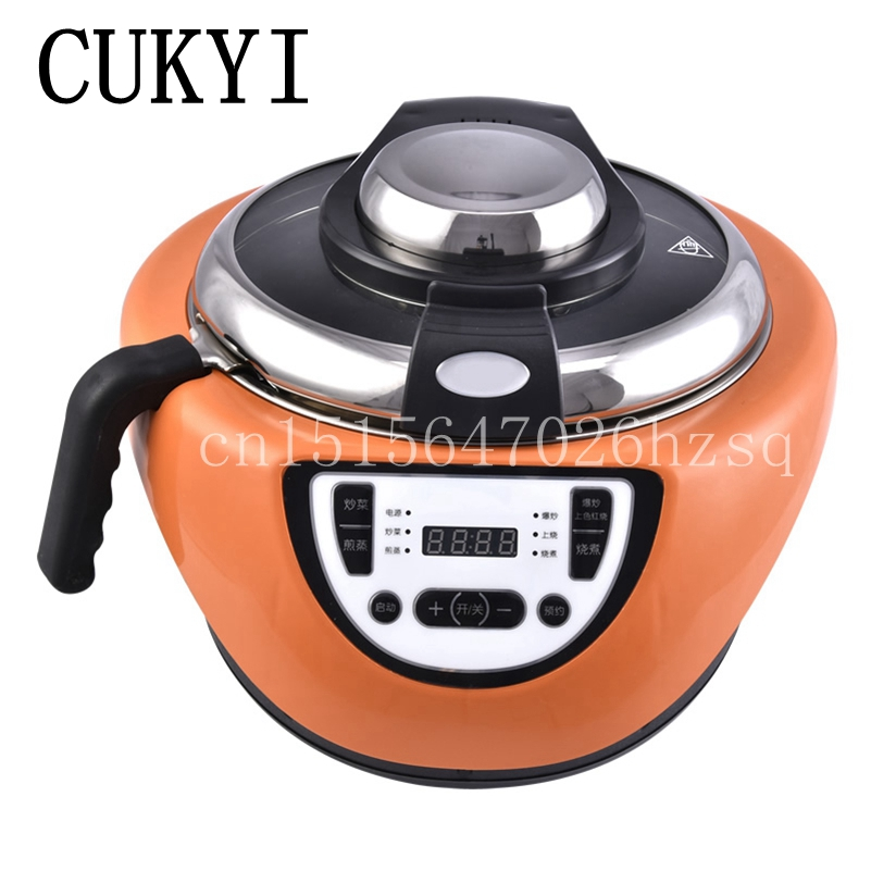 CUKYI 110V/220V Household travel Multi Cookers 3.5L capacity Intelligent Food Cooking Machine cooking pot cukyi household electric multi function cooker 220v stainless steel colorful stew cook steam machine 5 in 1