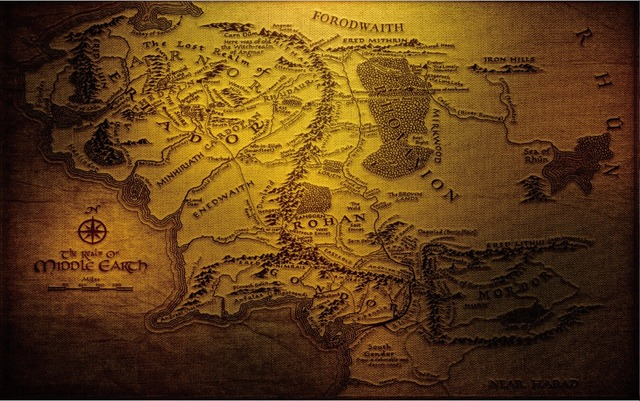 free shippingthe lord of the ringsmapmiddle earth movie