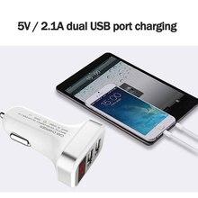 Двойное USB Универсальное автомобильное зарядное устройство 5 V 2.1A Автомобильная диагностика напряжения светодиодный экран автомобильное зарядное устройство для мобильного телефона с дисплеем