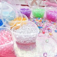 300pcs 25g Colorful flat fishbowl Beads for slime filler Fish Tank Decor Children kids DIY slime Accessories Supplies(China)