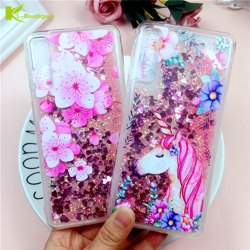 A7 2018 Liquid Case on for Samsung Galaxy A7 2018 A750 Cover Pineapple Dynamic Anti-knock Coque For Samsung Galaxy A7 2018 Case