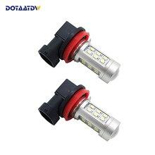 ФОТО dotaatdw 2x h11 led car hb4 led bulbs drl fog light h8 hb3 car led light 12v 9005 auto 9006 daytime running lights lamp 6000k