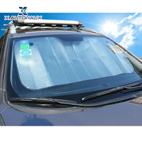 X AUTOHAUX 140 X 70CM Silver Double Bubble Cotton Car Windshield Sun Shade Cover Foldable Sun