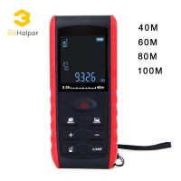 BeHelper 40m Multifunction Digital Handheld Laser Rangefinder Level Range Finder Measure Tape Laser Distance Meter Practractor