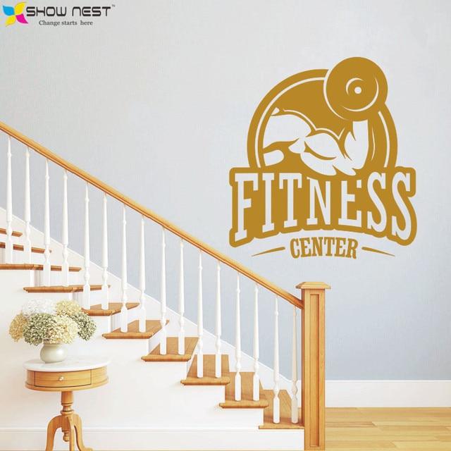 2016 Hot Fitness Center Wall Vinyl Decal Gym Art Poster Living Room