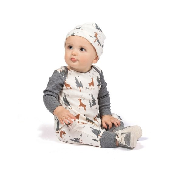 Clothing Sets Mother & Kids Cute Christmas Baby Boy Clothes Long Sleeve Deer Printed Baby Rompers Newborn Infant Jumpsuit Toddler Kids Clothing