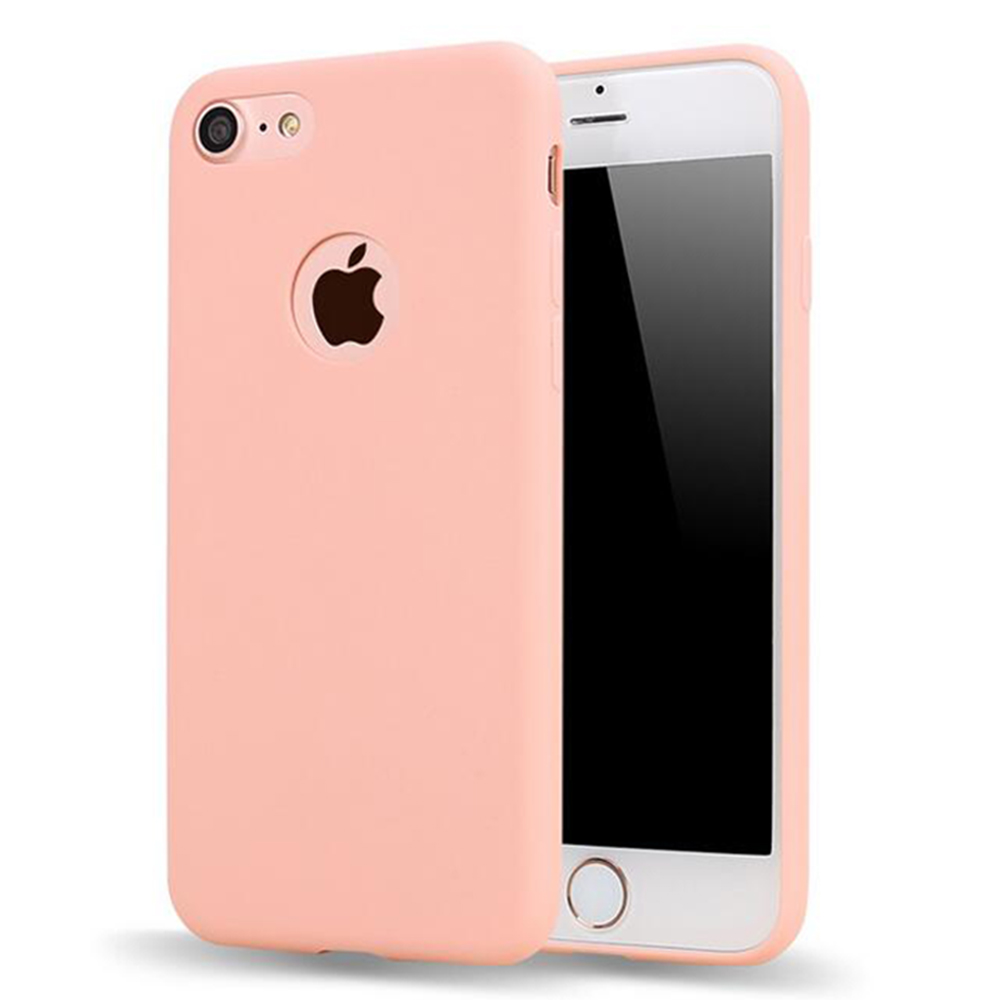 For Iphone7 6 Xs 8 Matte Candy Gel For Iphone 7 Case Ultra Slim Soft Silicone Cover For Iphone 8 Cute Pink Fundas TPU Phone Case