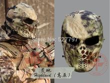 Highlander Camouflage Wargame Paintball Mask Outdoor army Full Face Airsoft Tactical Skull Movie Cosplay Masks Free Shipping