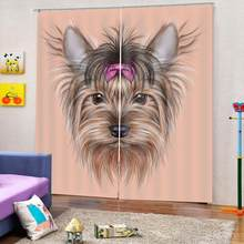 customize photo 3d curtains Animal avatar window curtain for bedroom living room blackout kids curtains(China)