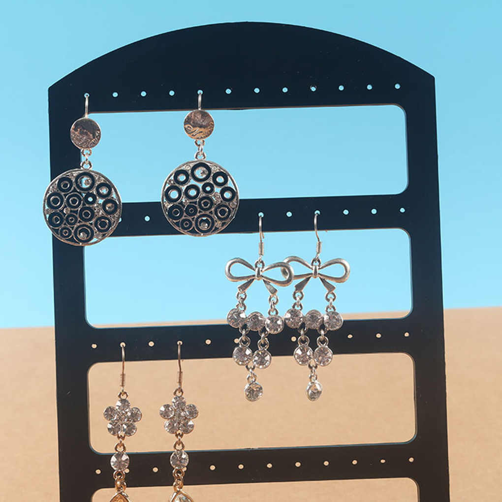 1PCS Plane Design Jewelry Rack Earrings Earbud Wristband Necklace Bracelet Display Acrylic large Holder