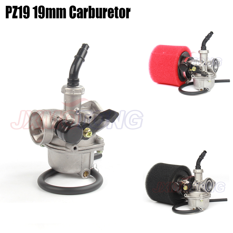 PZ19 19mm carbs Air Filter Manual throttle Carburetor Hand Choke for KEIHIN 50cc 70cc 90cc 110cc Dirt bike ATV Quad Motorcycle high qualtiy oil cooler for 50cc 70cc 90cc 110cc dirt bike pit bike monkey bike dax pocket bike atv motorcycle