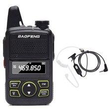 BAOFENG BF T1 MINI çocuk kadın 2 yönlü radyo taşıması kolay UHF 400 470mhz BFT1 el telsizi BF T1 radyo