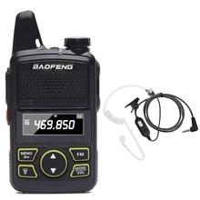 Портативная мини рация BAOFENG для детей и женщин, двухсторонняя радиостанция, легко носить с собой, УВЧ 400 470 МГц BFT1, Радио BF T1