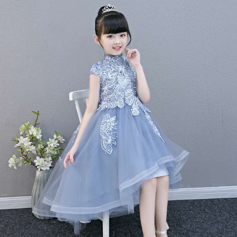 2019 Summer New Popular Children Girls Birthday Evening Party Model Show Lace Princess Dress Kids Teens Piano Pageant Tail Dress2019 Summer New Popular Children Girls Birthday Evening Party Model Show Lace Princess Dress Kids Teens Piano Pageant Tail Dress