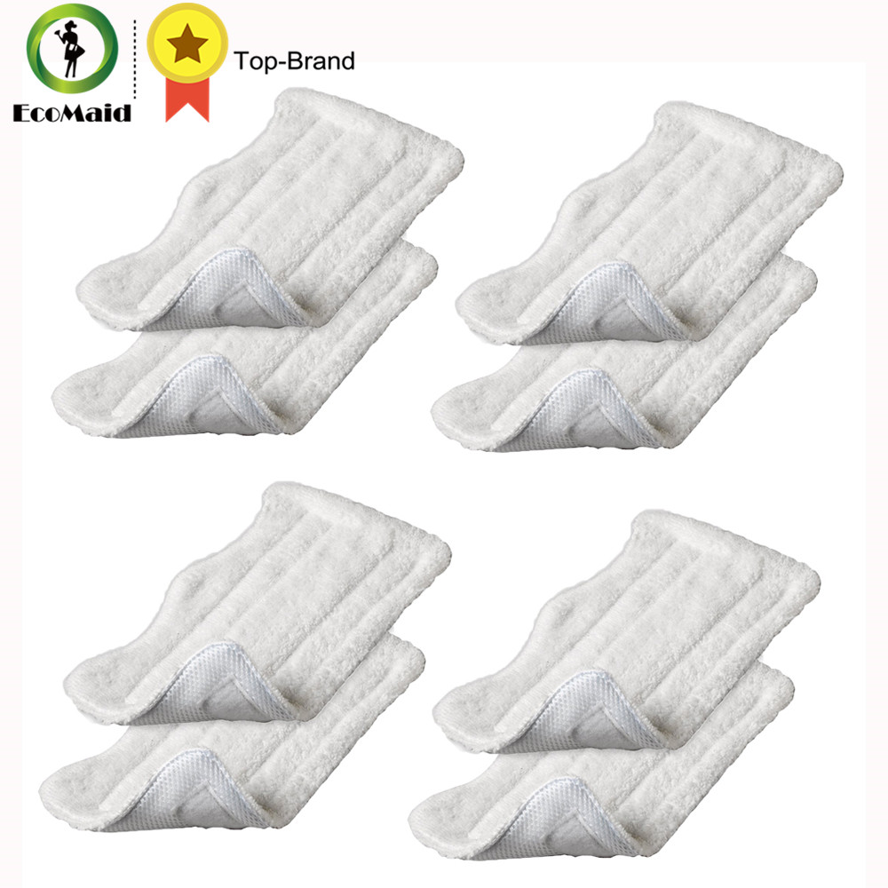 8 pcs Deluxe Washable Microfiber Mop Cleaning Pads For Shark Euro-Pro's S3101 S3251 S3250 S3101W, S3250, S3250W, S3250CW Series 4 pcs white microfibre steam mop cleaning floor washable replacement pads compatible for x5 h20 series dust cleaner part