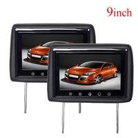 9inch car monitor headrest monitor with 2 av input 800x480 tv headrest tft lcd monitor screen for car 16:9 monitor 4:3 monitor