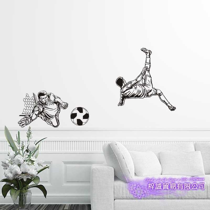 DCTAL لاعب كرة القدم ملصقا كرة القدم لعبة كرة القدم صائق الخوذ الاطفال غرفة الملصقات الفينيل صور مطبوعة للحوائط F1
