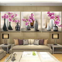 NEW 3D Diamond Painting Cross Stitch Red Floral Vase Crystal Needlework Diamond Embroidery Flower Full Diamond