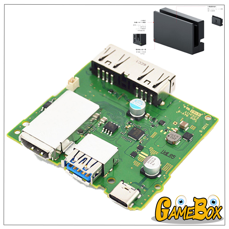 Original HDMI Port Socket Connector PCB Motherboard for Nintend Switch HDMI Dock Charger Board Motherboard for